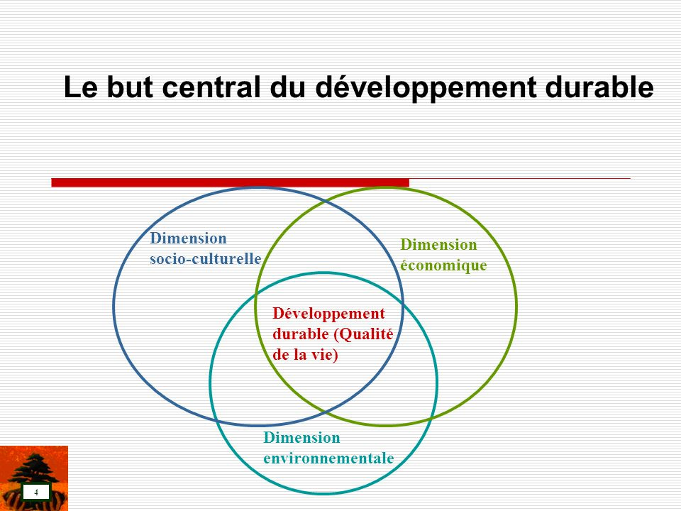 Le but central du développement durable