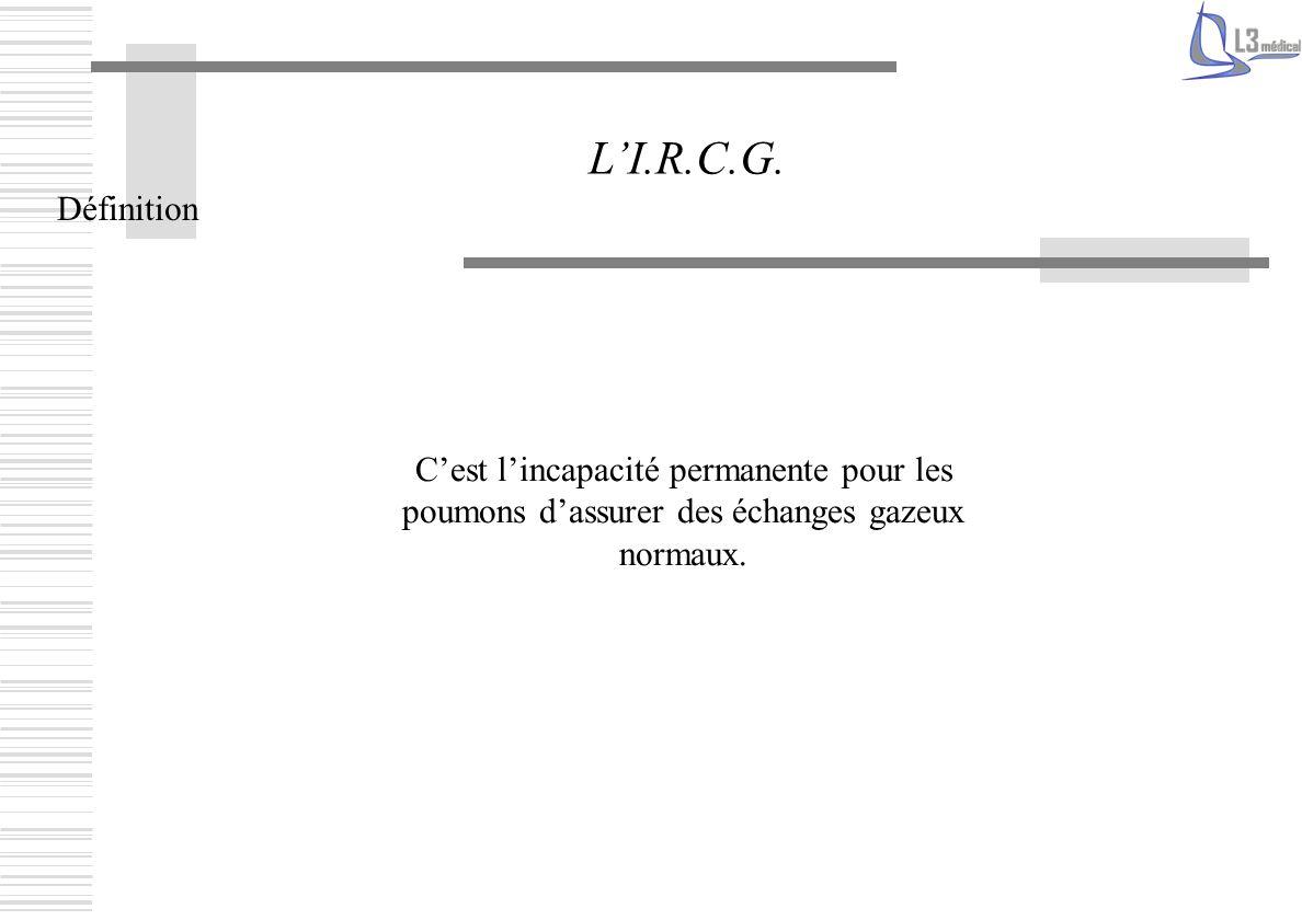 L'I.R.C.G. Définition.