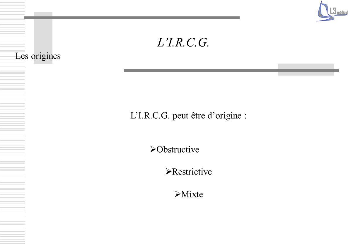 L'I.R.C.G. peut être d'origine :