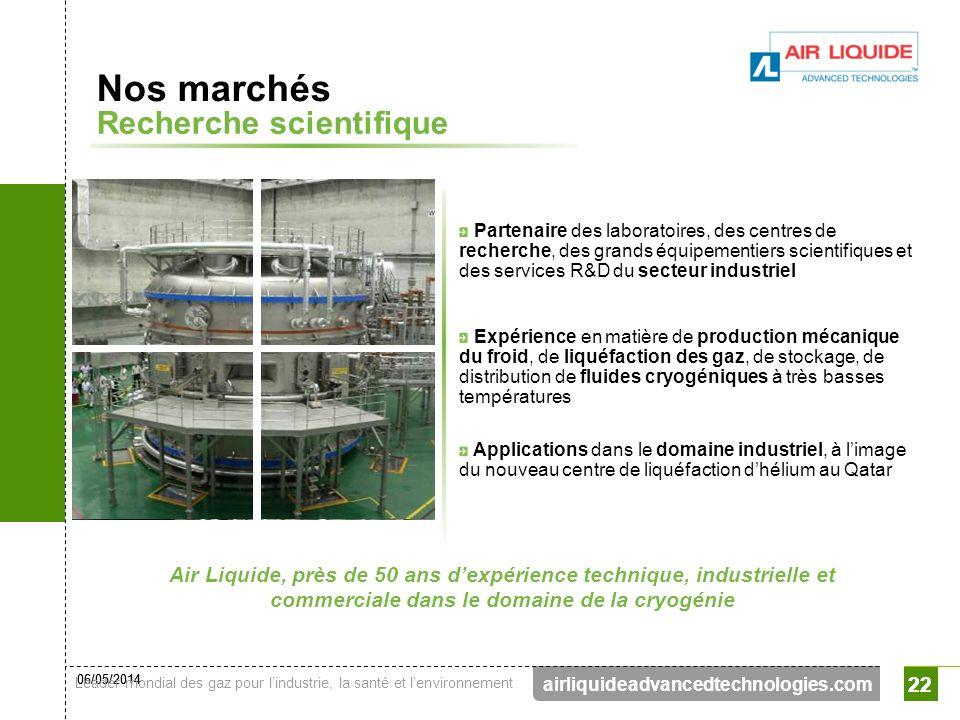 Nos marchés Recherche scientifique