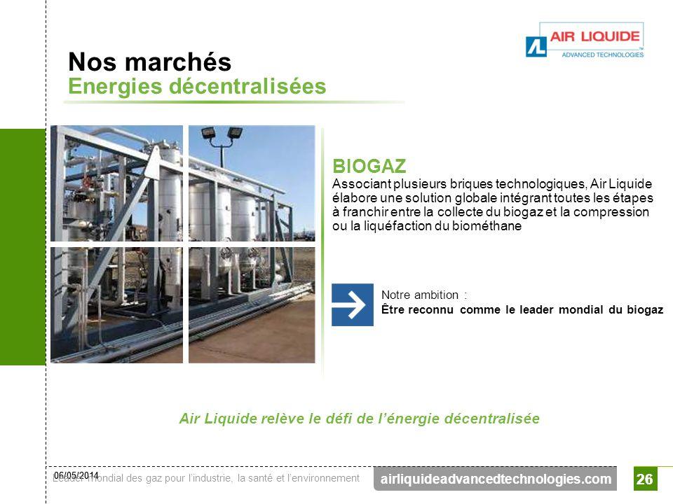 Air Liquide relève le défi de l'énergie décentralisée