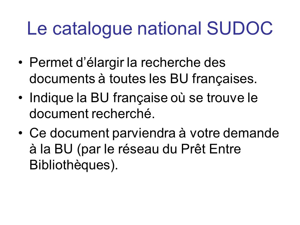 Le catalogue national SUDOC