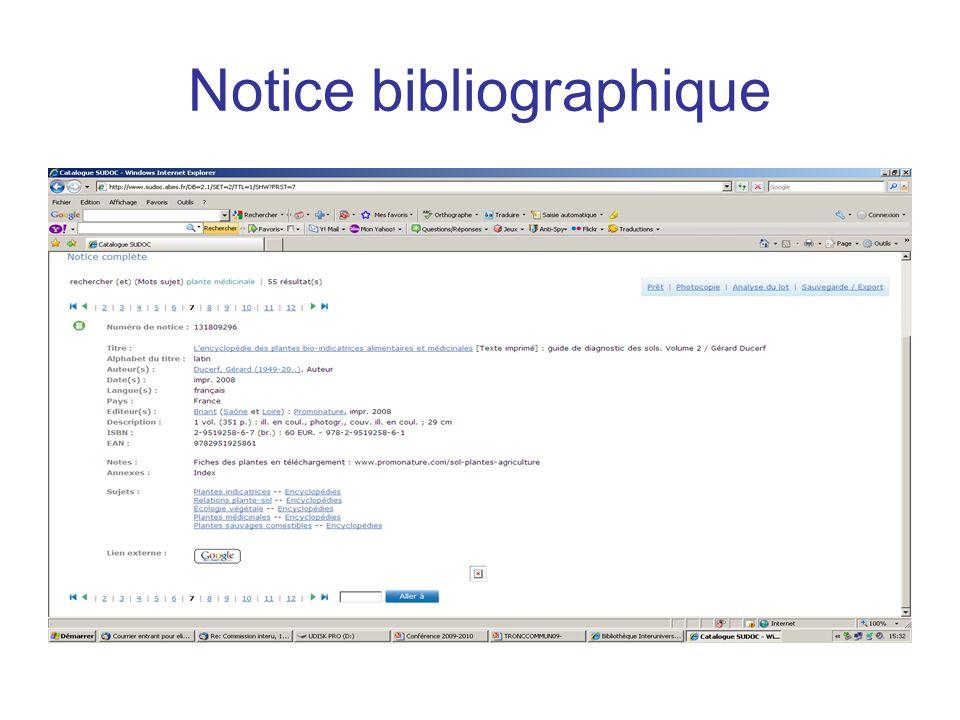Notice bibliographique