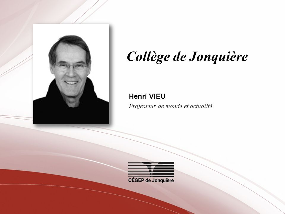 Henri VIEU Professeur de monde et actualité