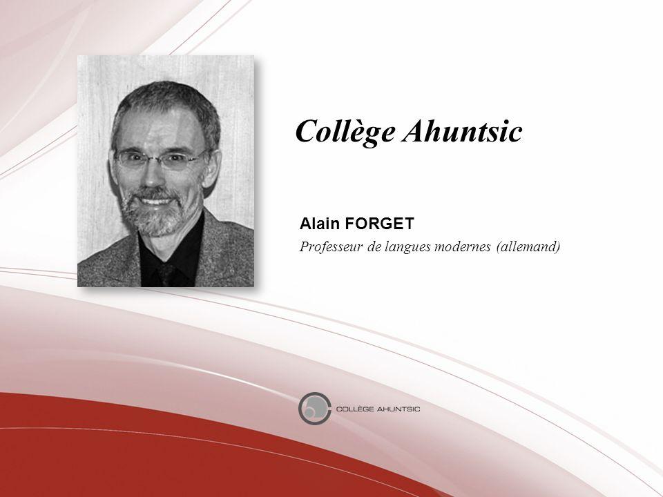 Alain FORGET Professeur de langues modernes (allemand)