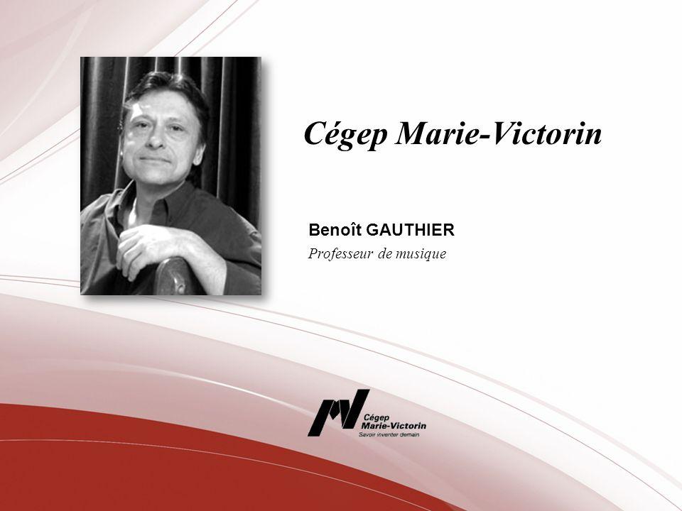Benoît GAUTHIER Professeur de musique