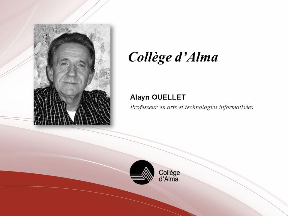 Alayn OUELLET Professeur en arts et technologies informatisées