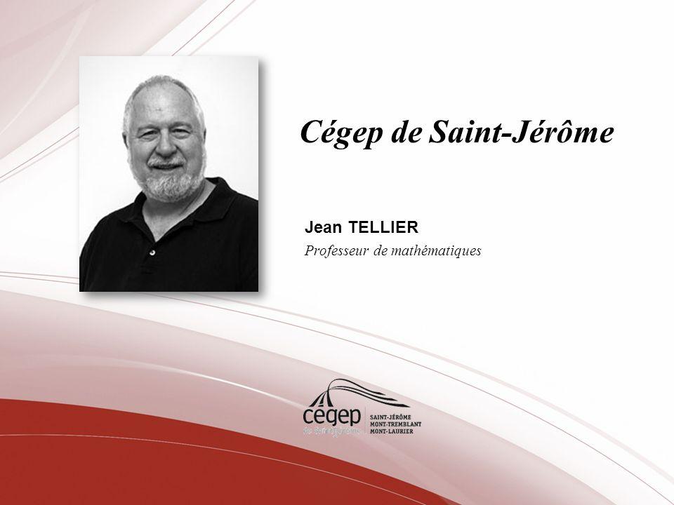 Jean TELLIER Professeur de mathématiques