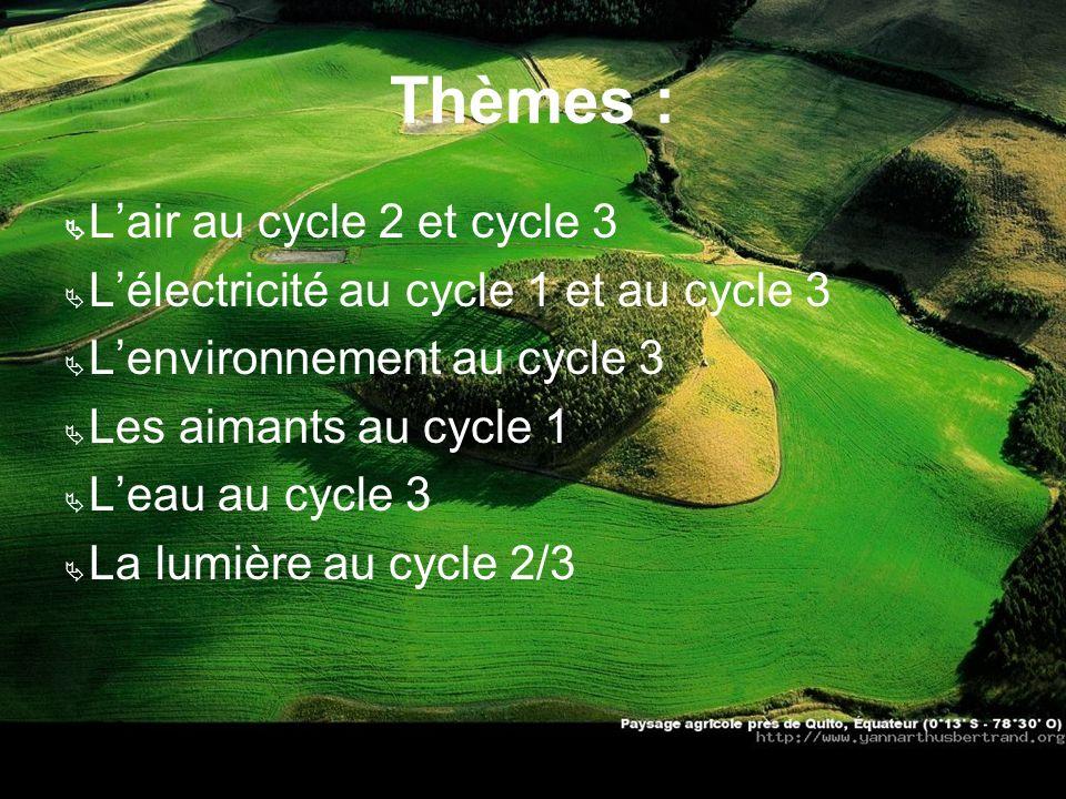 Thèmes : Ä L'air au cycle 2 et cycle 3