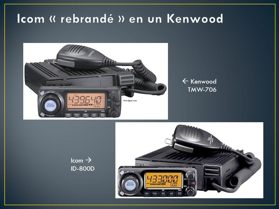 Icom « rebrandé » en un Kenwood