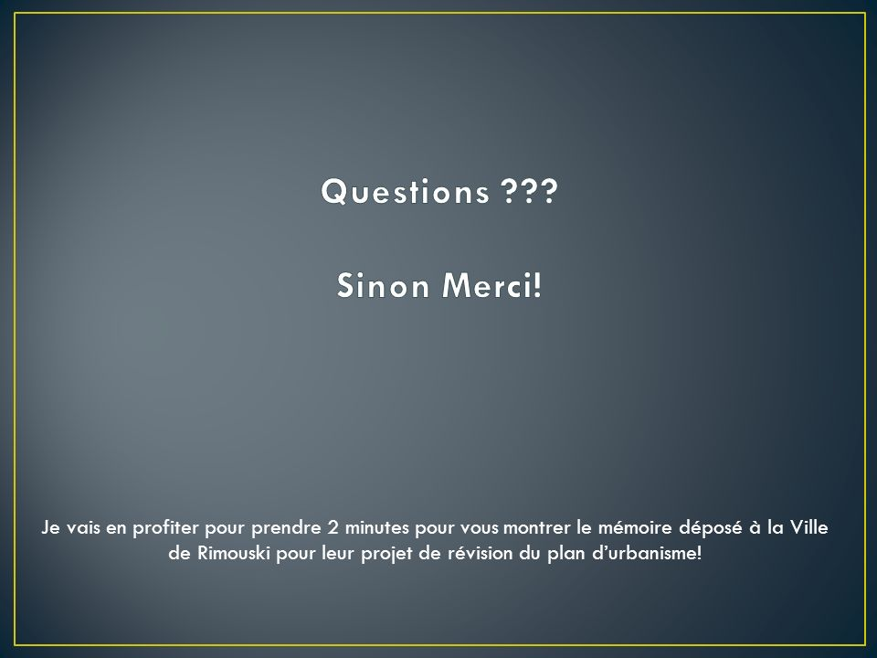 Questions Sinon Merci!