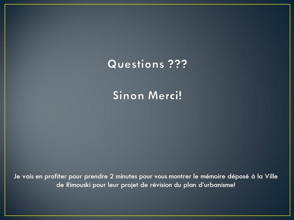 Questions Sinon Merci!