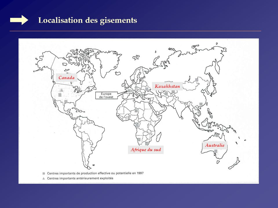 Localisation des gisements