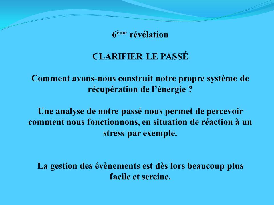6ème révélation CLARIFIER LE PASSÉ. Comment avons-nous construit notre propre système de récupération de l'énergie