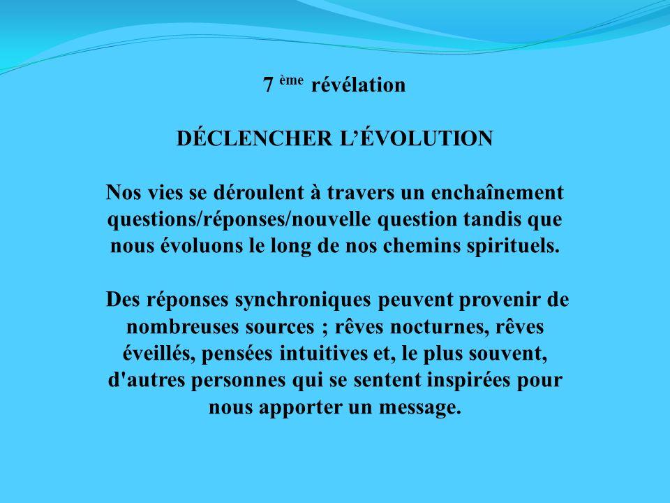 DÉCLENCHER L'ÉVOLUTION
