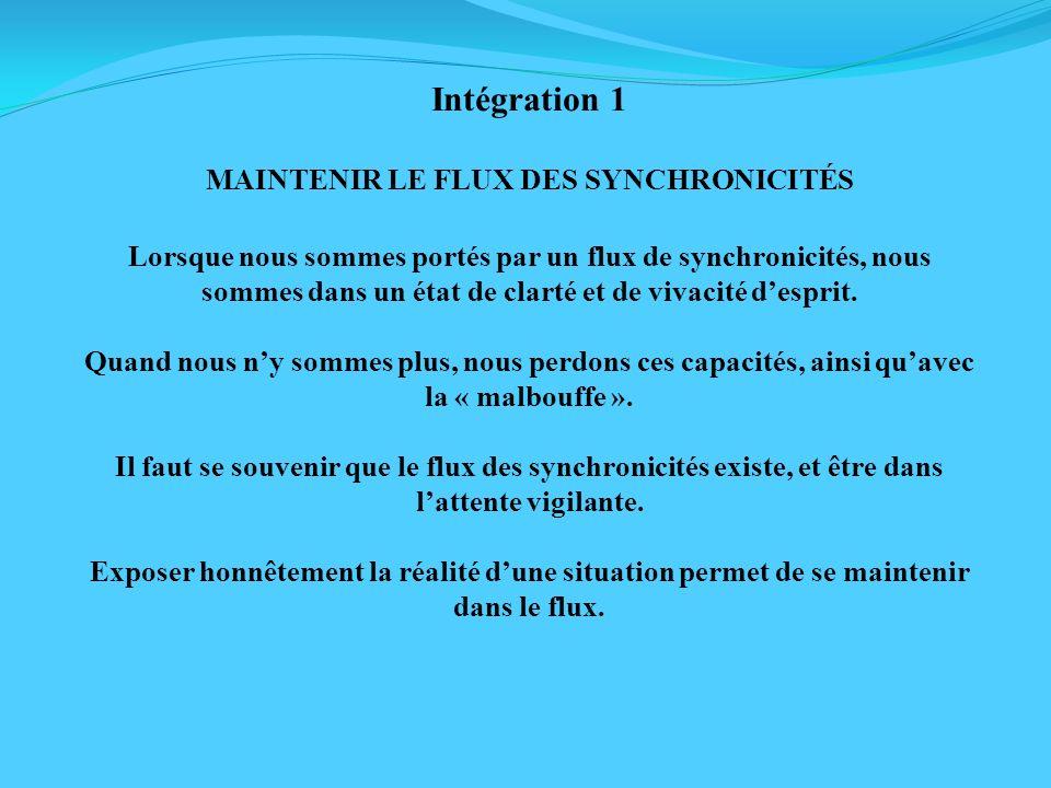 MAINTENIR LE FLUX DES SYNCHRONICITÉS