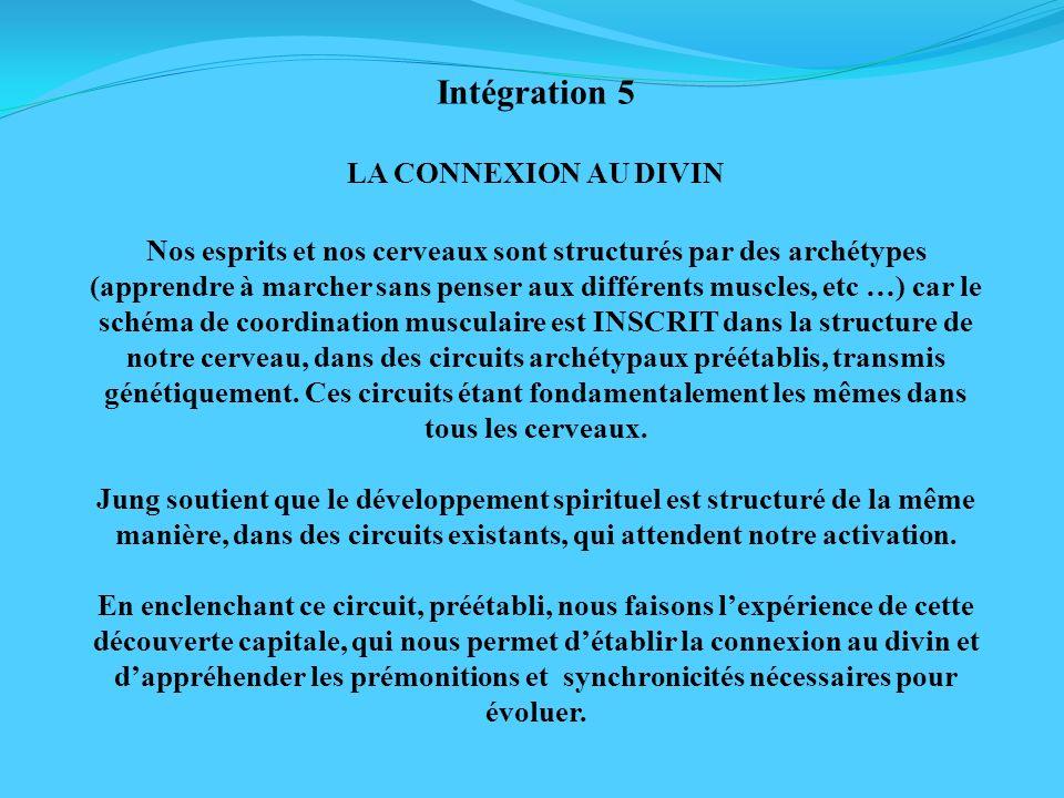 Intégration 5 LA CONNEXION AU DIVIN