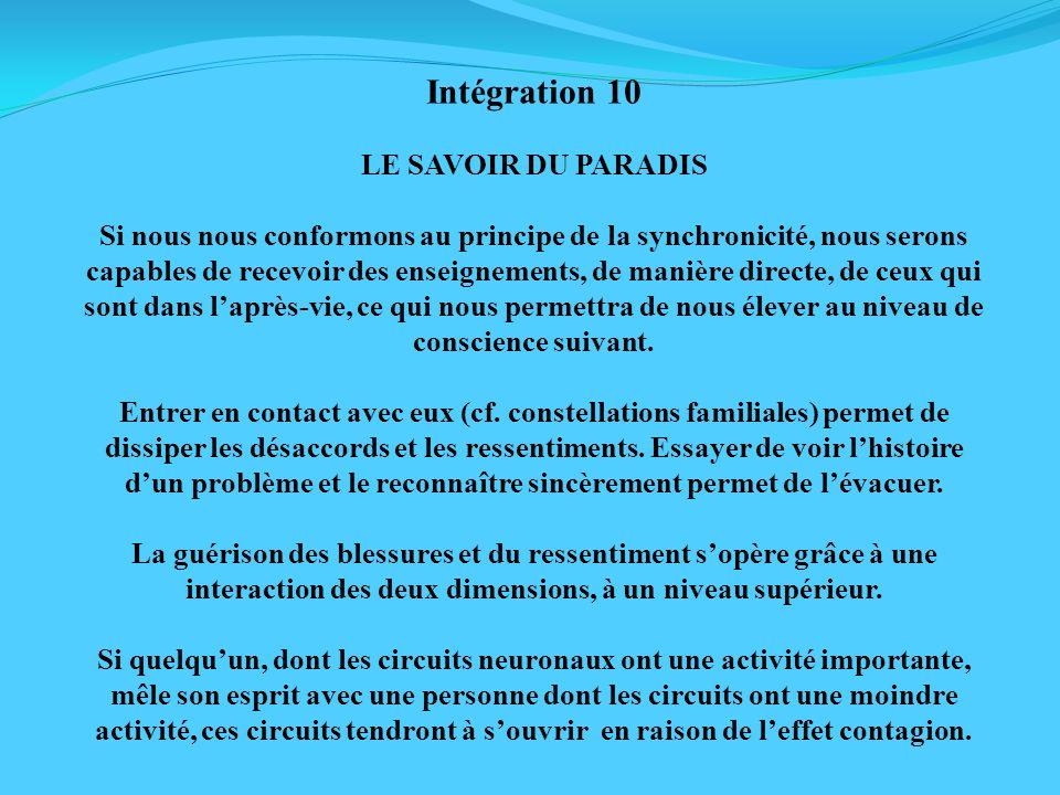 Intégration 10 LE SAVOIR DU PARADIS