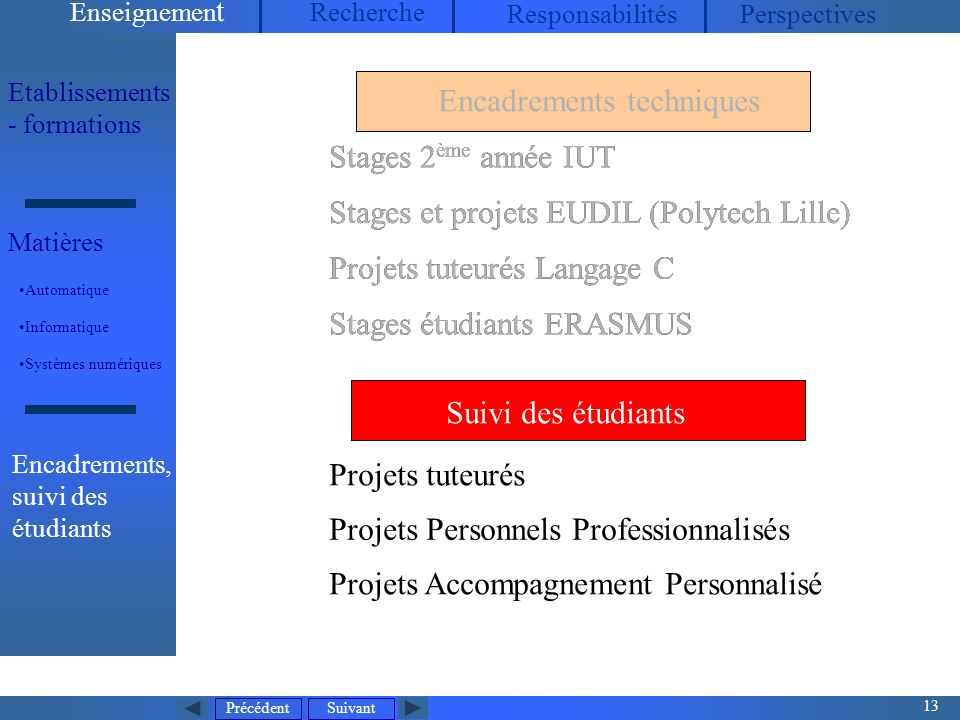 Stages et projets EUDIL (Polytech Lille)
