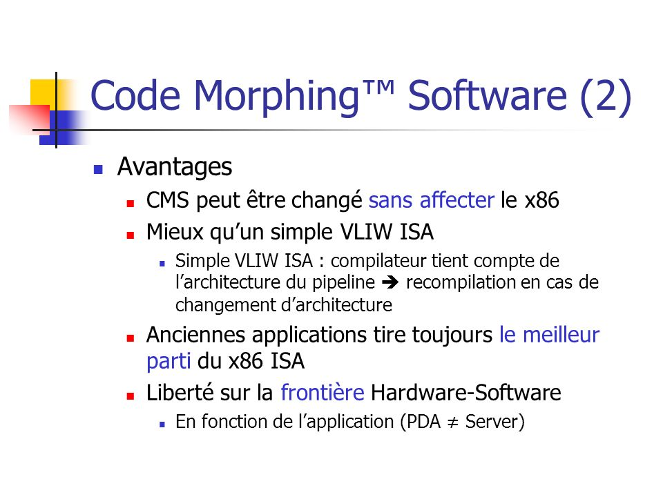 Code Morphing™ Software (2)