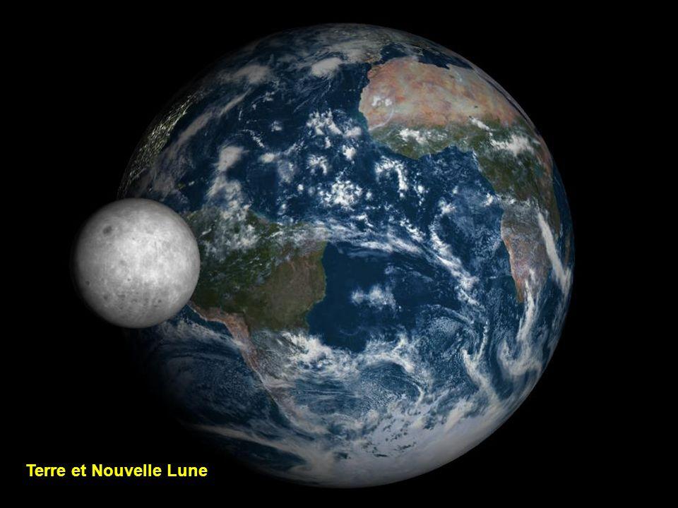 Terre et Nouvelle Lune