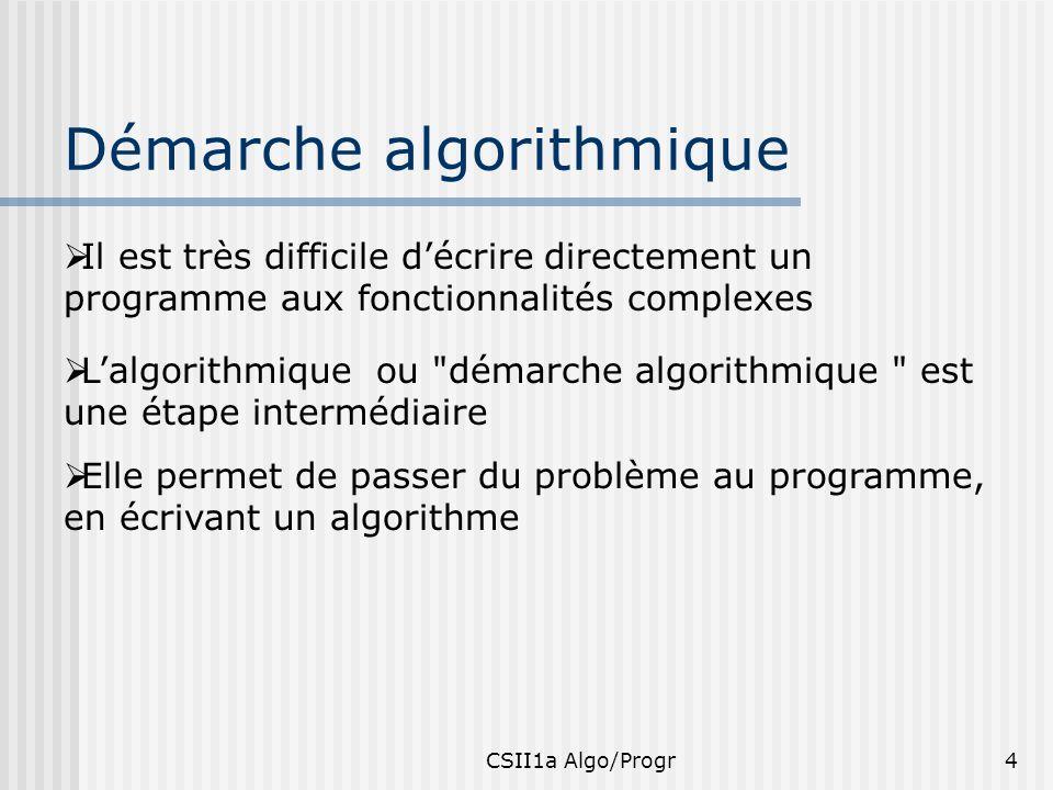Démarche algorithmique