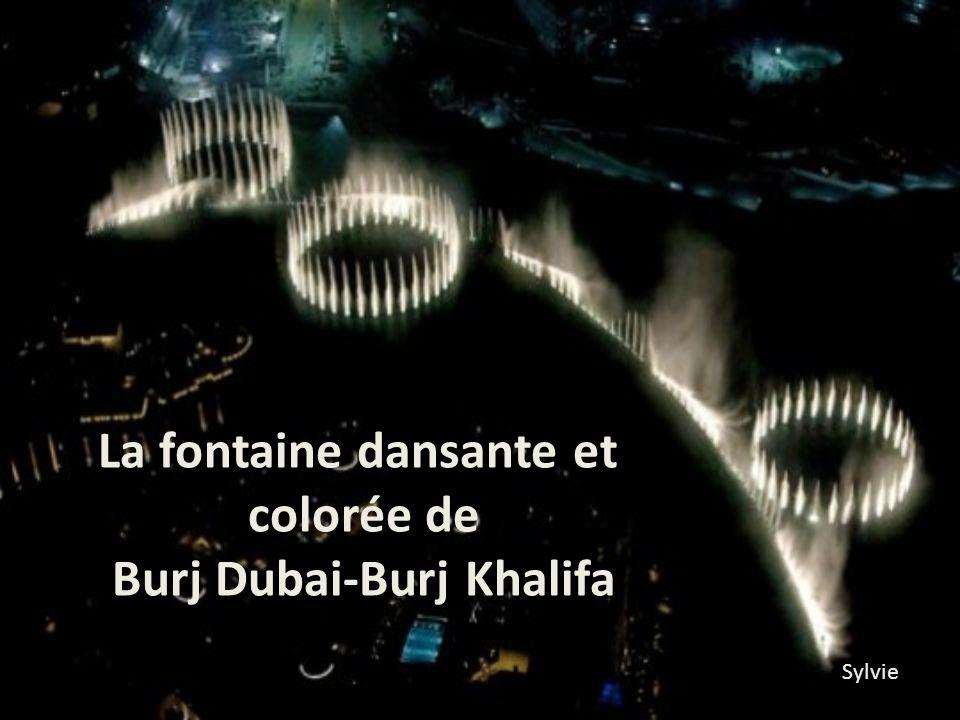 La fontaine dansante et Burj Dubai-Burj Khalifa