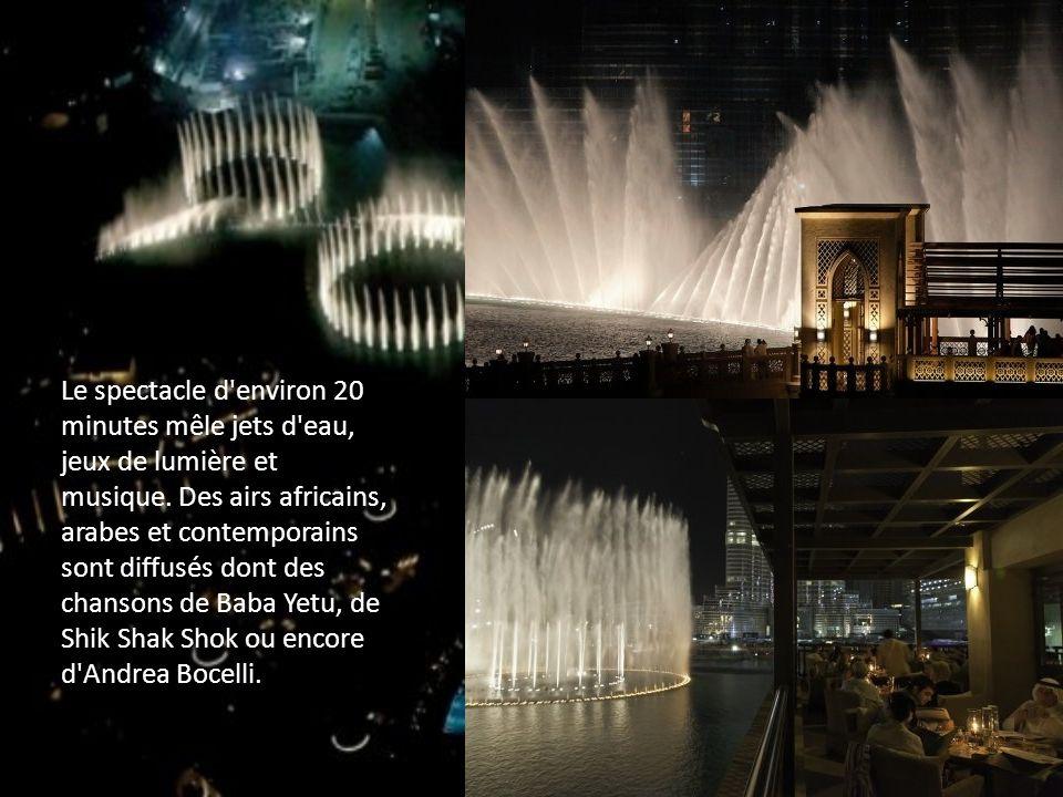 Le spectacle d environ 20 minutes mêle jets d eau, jeux de lumière et musique.