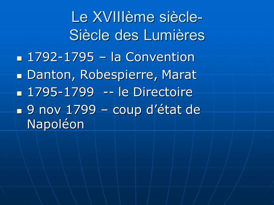 Le XVIIIème siècle- Siècle des Lumières