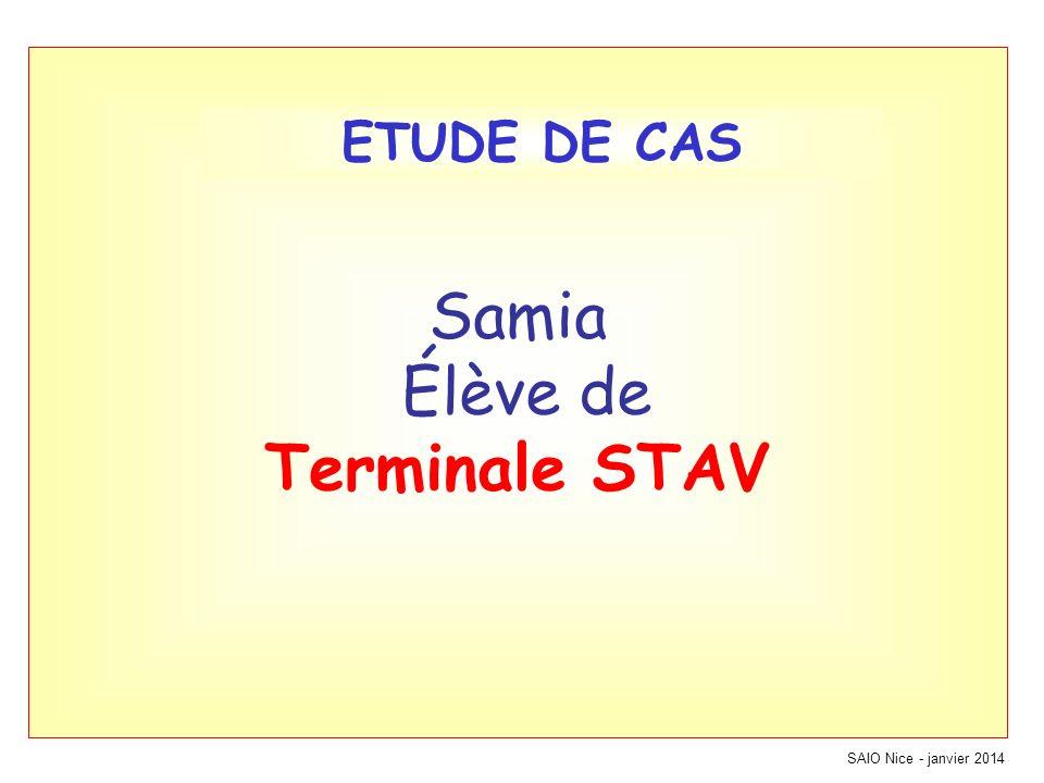 Samia Élève de Terminale STAV