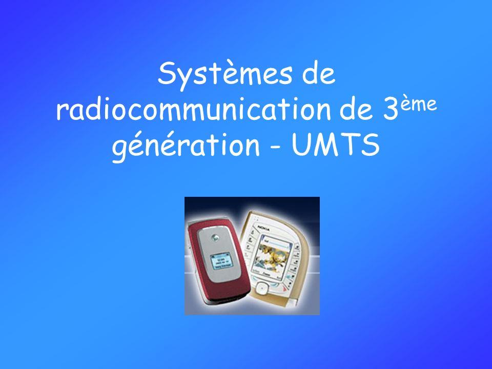 Systèmes de radiocommunication de 3ème génération - UMTS