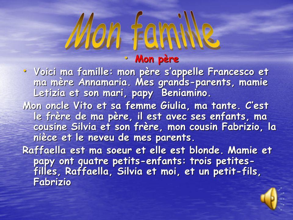 Mon famille Mon père.