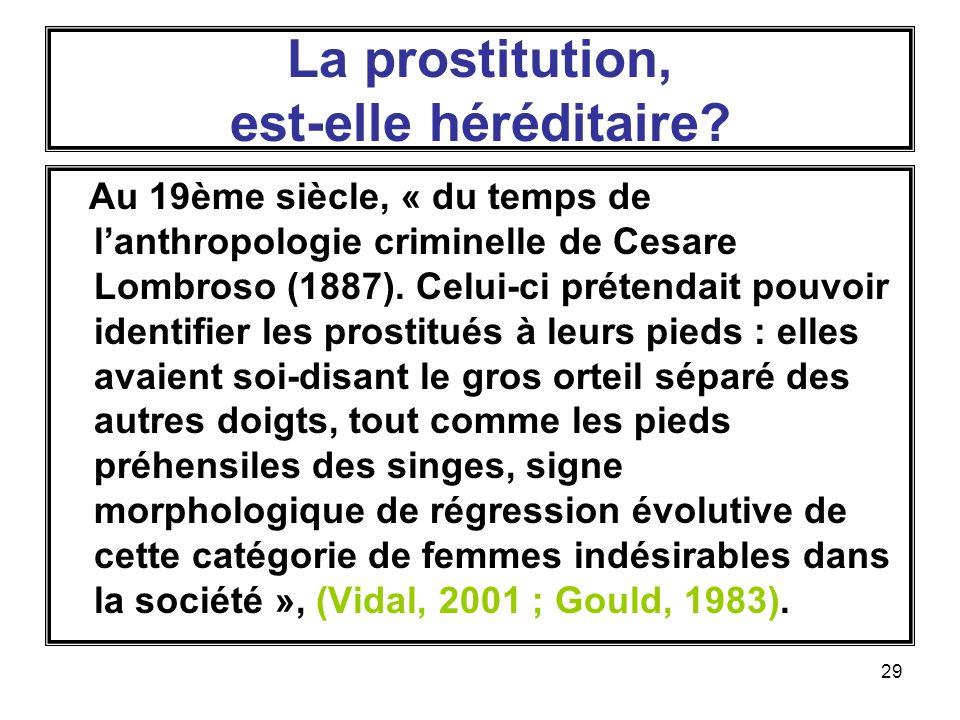 La prostitution, est-elle héréditaire
