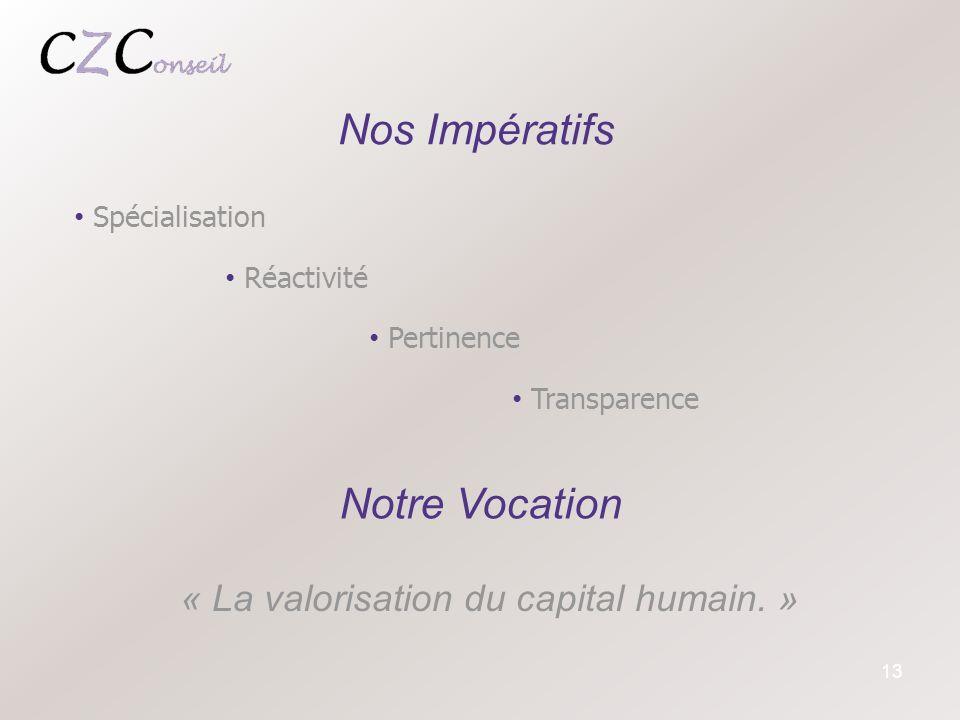 « La valorisation du capital humain. »