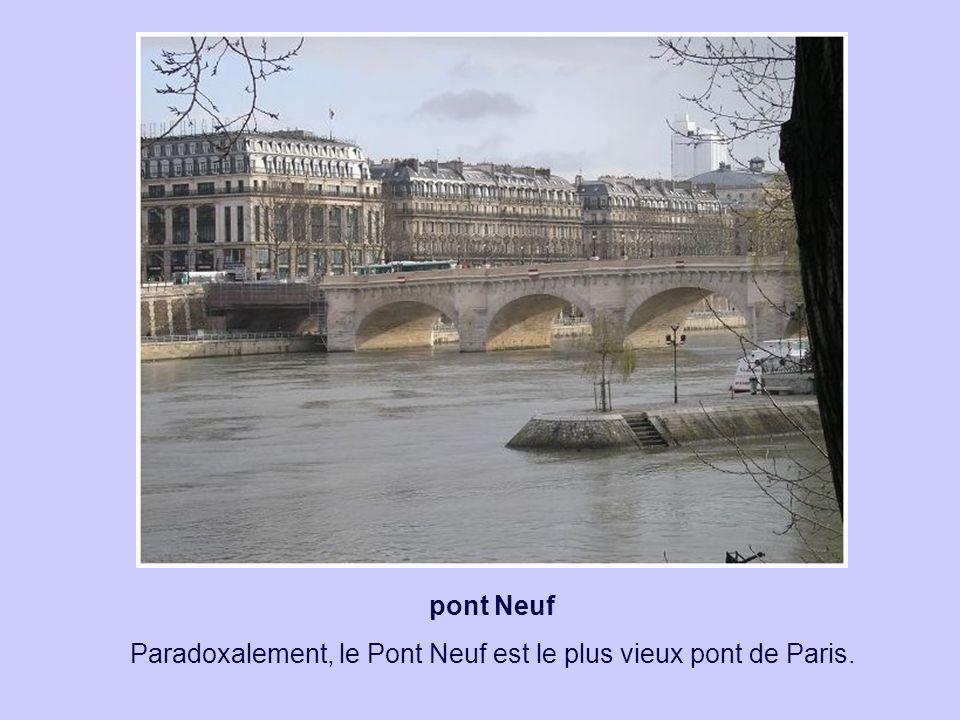 pont Neuf Paradoxalement, le Pont Neuf est le plus vieux pont de Paris.