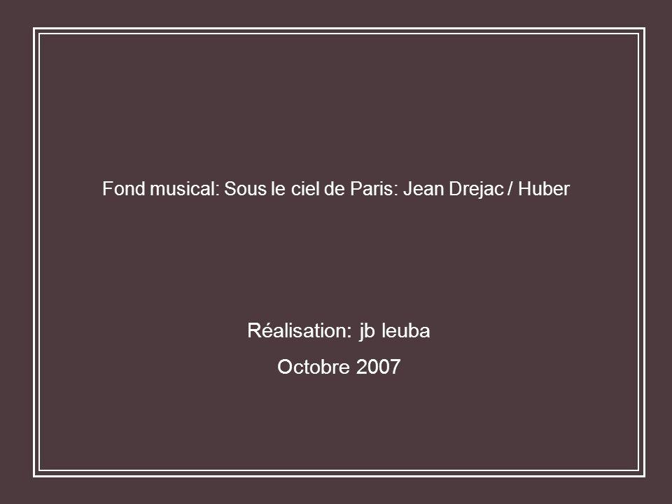 Fond musical: Sous le ciel de Paris: Jean Drejac / Huber