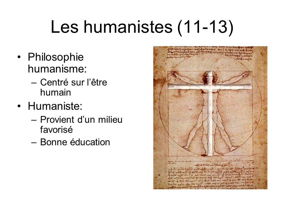 Les humanistes (11-13) Philosophie humanisme: Humaniste: