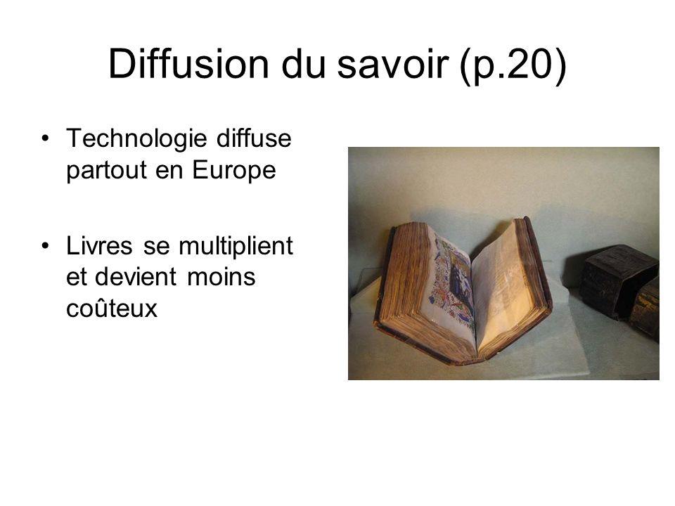 Diffusion du savoir (p.20)