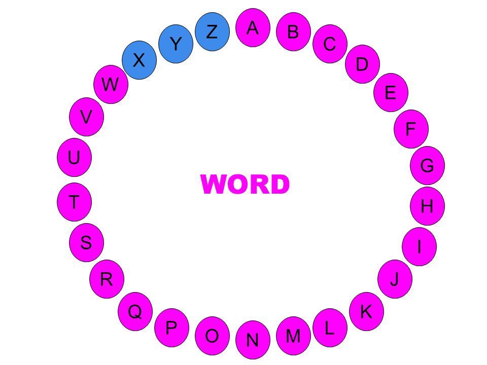 A Z B Y C X D W E V F WORD U G T H S I 47-W réponse R J Q K P L O M N