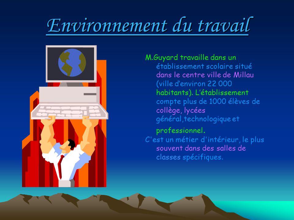 Environnement du travail