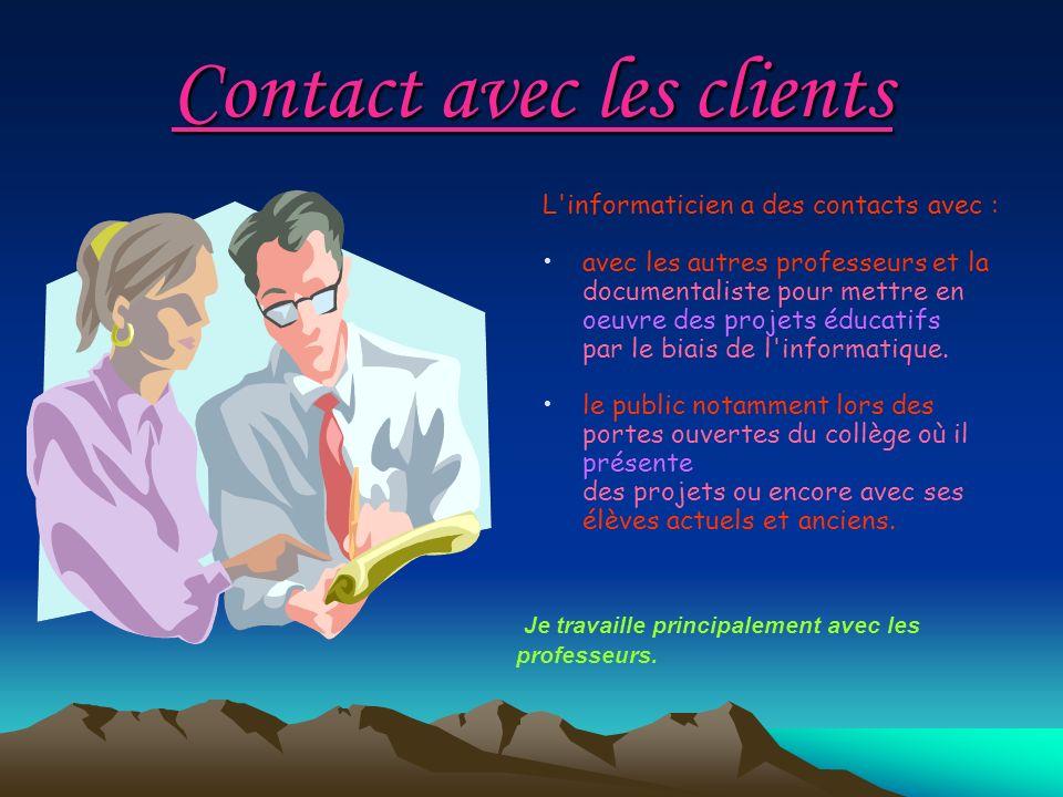 Contact avec les clients