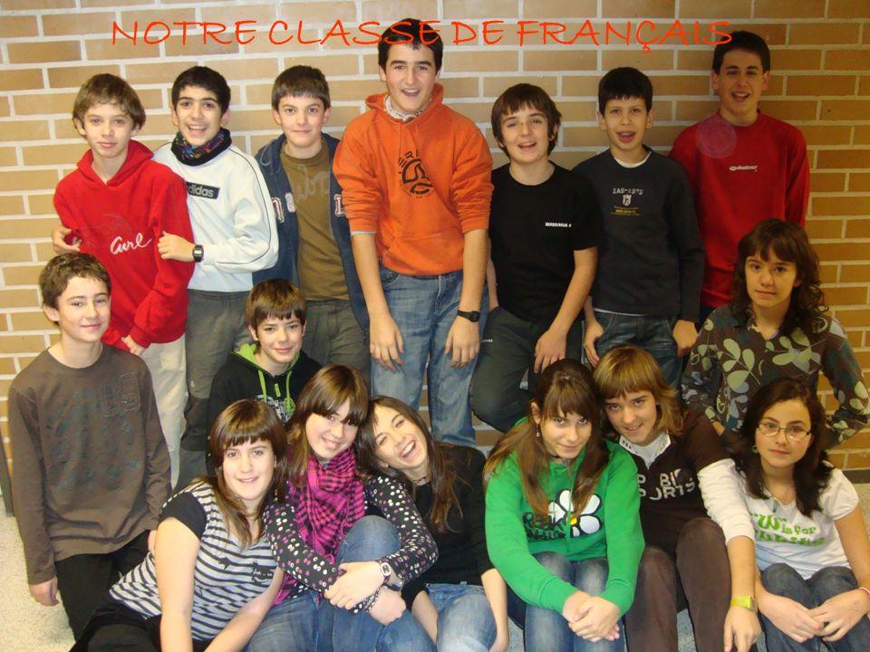 NOTRE CLASSE DE FRANÇAIS