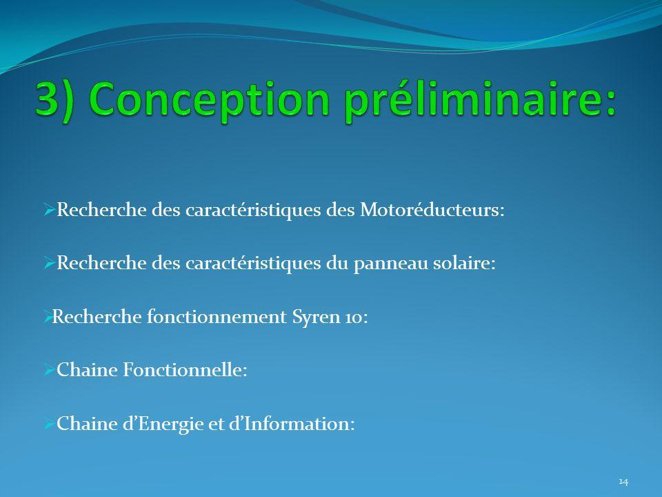 3) Conception préliminaire: