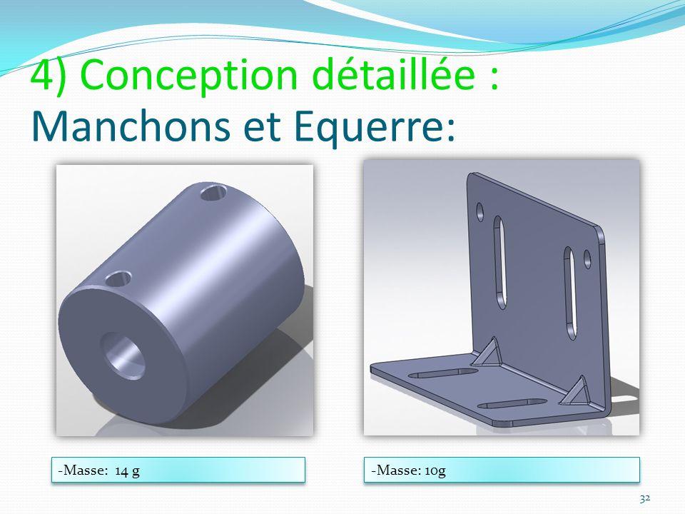 4) Conception détaillée : Manchons et Equerre:
