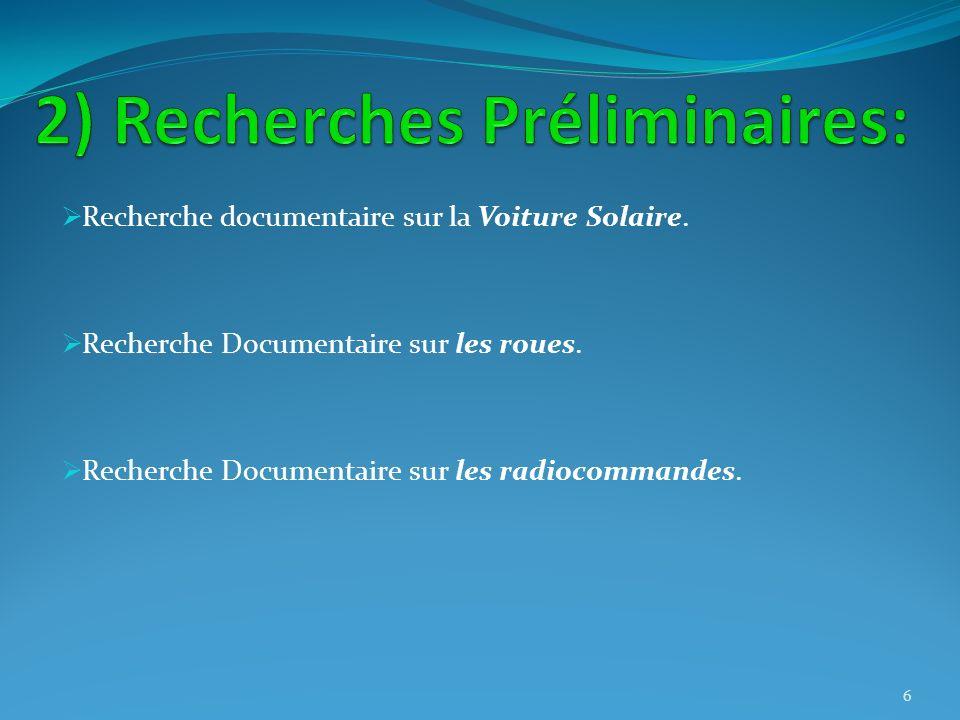 2) Recherches Préliminaires: