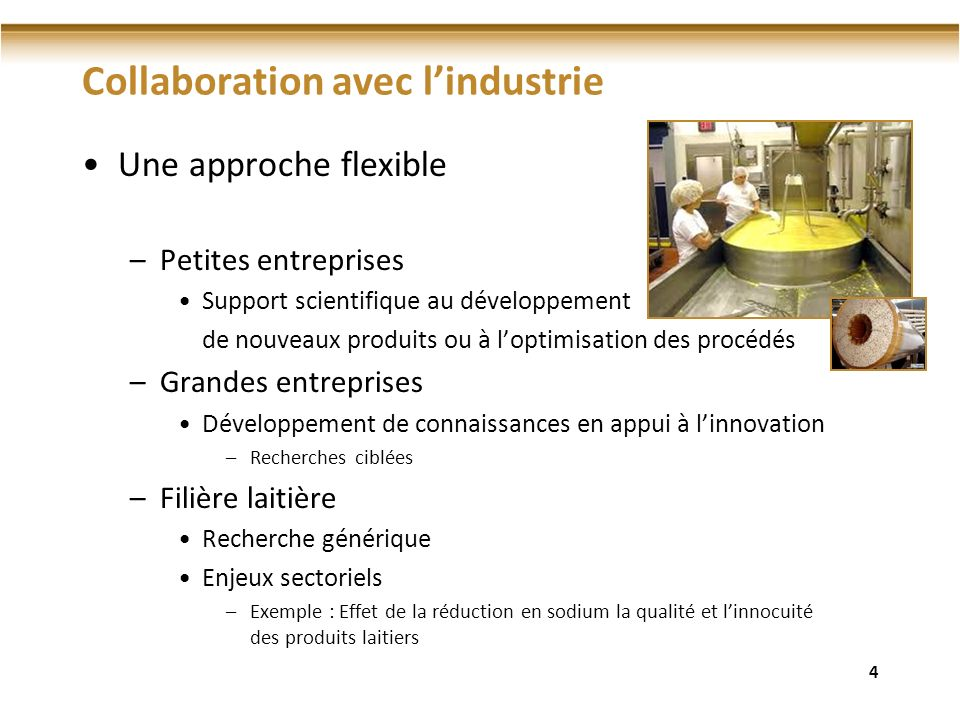 Collaboration avec l'industrie