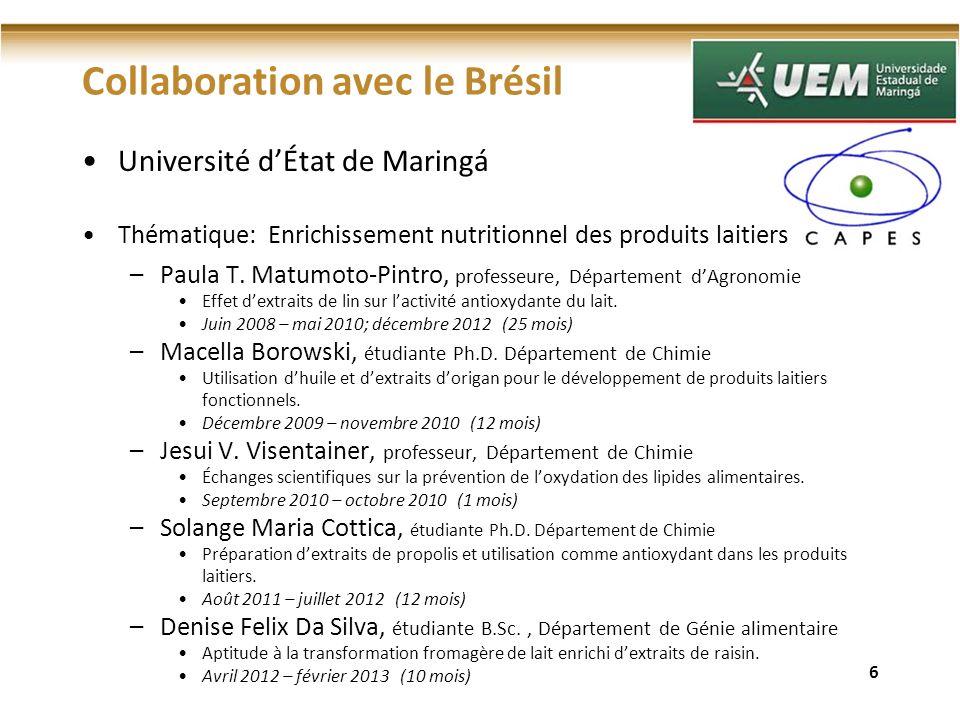 Collaboration avec le Brésil
