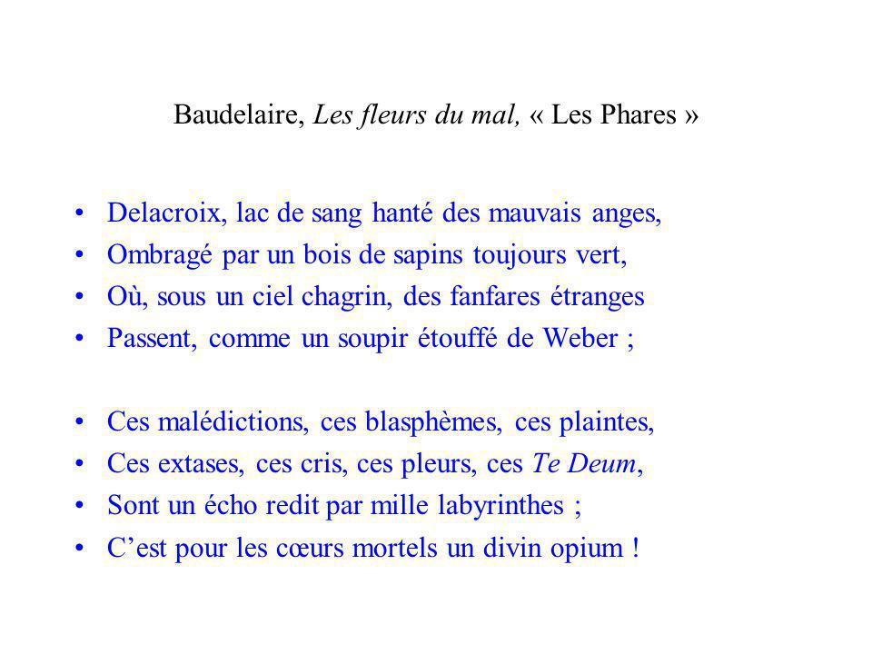 Baudelaire, Les fleurs du mal, « Les Phares »