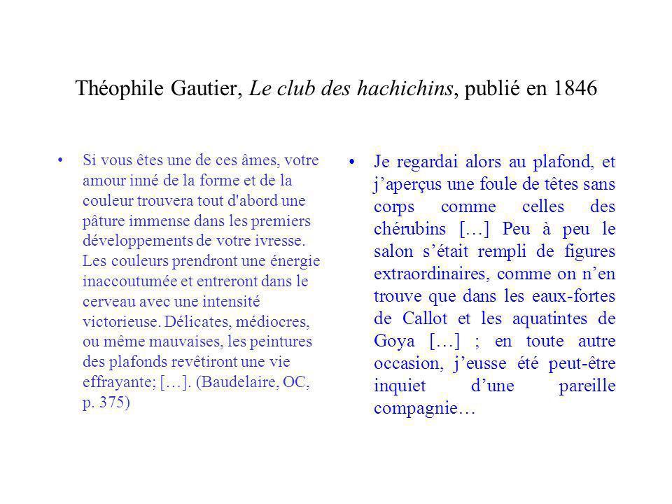 Théophile Gautier, Le club des hachichins, publié en 1846