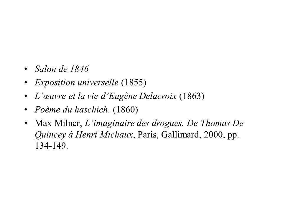 Salon de 1846 Exposition universelle (1855) L'œuvre et la vie d'Eugène Delacroix (1863) Poème du haschich. (1860)